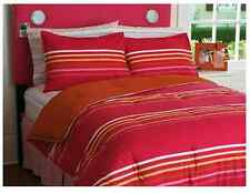 NEW Your Zone Reversible Comforter & Sham Set, Pink Stripe/Orange, FULL/QUEEN