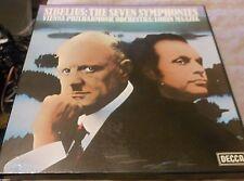 Sibelius the seven Symphonies Lorin Maazel Decca D7D 4 EX/EX Stereo
