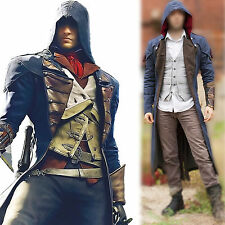 Assassin's Creed Unity Arno Victor Dorian Denim Cloak Cosplay Coat Hoodie Jacket