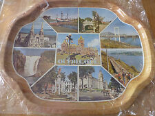 Nice and new Metal Kitchen Tray Québec City Canada Souvenir Serveware Plate