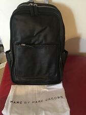 MARC BY MARC JACOBS Unisex Black Leather Back Pack