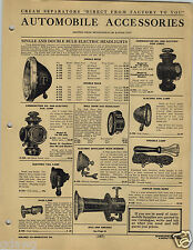 1920 PAPER AD Jubilee Hand Power Horn Car Automobile Oil Electric Lamp