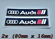 2x  Audi S-line Logo Symbol 3D Aufkleber für Innen oder