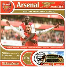 Arsenal 2006-07 Tottenham (Gilberto & Adebayor) Football Stamp Victory Card #614