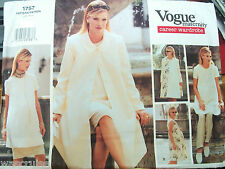Ms Vogue 1757 Maternity Pattern UNCUT Career Wardrobe Coat Dress Tunic Sz 6-8-10