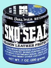 7 Ounce Bees Wax Sno-Seal Leather Protectant ENJOY DRY FEET ALL YEAR LONG!