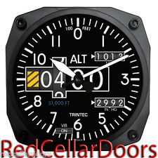 "TRINTEC New Aviation Design 2060 Series 6.5"" ALTIMETER Wall Clock Aviatrix Pilot"