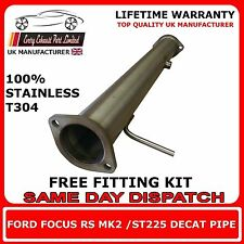 "FORD FOCUS RS MK2 / ST225 Decat pipe T304 Stainless Steel 2.5"" inch Bore"