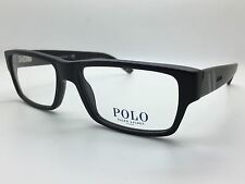 Polo Ralph Lauren 2085 5284 Matte Black Designer Glasses Frames Mens 52-16-140