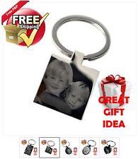 Photo Gravé Cadeau Fête Pères porte-clés pendentif nouvelle personnalisé