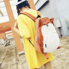 Women Girls Travel Satchel Backpack Fox Shape Shoulder Bookbag School Bag