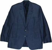 "BRIONI BLUE/BLACK PATTERN ""PARLAMENTO"" MEN'S JACKET-46/56-MADE IN ITALY"