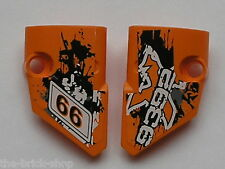 LEGO TECHNIC Orange panel fairing small 1 & 2 ref 87080 87086 / set quad 9392