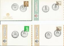 Spain  Espana  1977  Club Alhambra Granada Electronics Philately  Stamp Card x 4