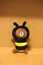 Naver Line App Characters Brown BEE plush doll keychain 1PC
