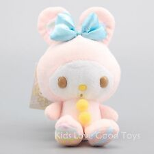Kawaii Bowknot My Melody Kitty Doll Plush Toy Anime Cosplay Keychain 16cm Gift