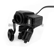 MOTORCYCLE 12V USB WATERPROOF GPS POWER PORT OUTLET SOCKET CHARGER FOR CELLPHONE
