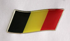 45mm WAVING BELGIUM FLAG Sticker/Decal - WITH A HIGH GLOSS DOMED GEL FINISH