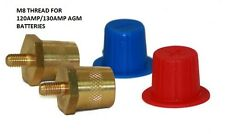 BRASS BATTERY POSTS TO SUIT 120AMP 130AMP AGM TERMINALS DEEP CYCLE HIGH CRANK
