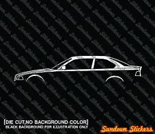 2x car silhouette stickers - for BMW e36 3-series 325i ,328i coupe