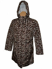 BNWT size L KLASS Animal Print Black/Brown/Ivory Ladies Coat w concealed hood