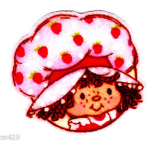 "2"" STRAWBERRY SHORTCAKE MINI CHARACTER  FABRIC APPLIQUE IRON ON"