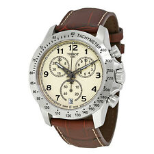 Tissot V8 Ivory Dial Mens Chronograph Watch T106.417.16.262.00