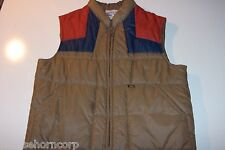Vintage 70's Lee Storm Rider Puffer Vest - size XL - Made in USA - FREE SHIPPING