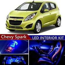 7 pcs LED Blue Light Interior Package Kit for Chevy Spark 2012-2017
