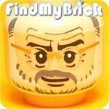H289A Lego Indiana Jones Henry Jones Sr. Minifigure Head 7198 7620 NEW