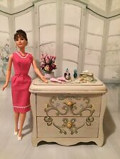 BARBIE,doll,DRESSER,ADULT MINIATURE,DIORAMA,OOAK,FURNITURE,SILKSTONE doll