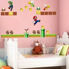 2-teilig Cartoon Super Mario Wand Sticker PVC Vinyl Aufkleber Heim Kinder Baby