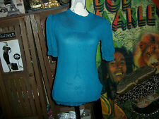 ANTHROPOLOGIE FREE PEOPLE  Sharp Blue Blouse Size SP