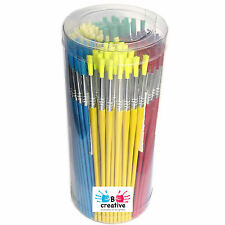 Paint Brushes Bulk Kids Synthetic Bristle Assorted Sizes 144 Pack School Nursery