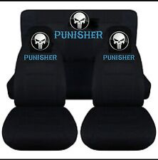 PUNISHER...FRONT SEAT COVERS ..WE MAKE FOR ALL CARS..Any Colour Seat covers