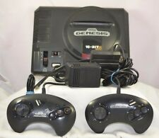 Sega Genesis Launch Edition Black Console 1601 TESTED FAST-FREE SHIPPING