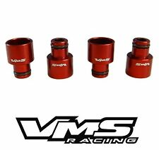 x4 VMS RACING RDX FUEL INJECTOR TOP HATS FOR HONDA ACURA D15 D16 B16 B18 - RED