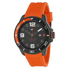 Tommy Hilfiger Keith Black Dial Orange Silicone Mens Watch 1791154