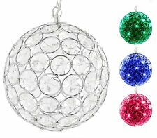 "Outdoor Solar Powered Hanging Decorative Sparkling Crystal 6"" Gazing Ball Hoont"