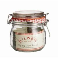 NEW ROUND GLASS JAR WITH CLIP TOP & SEAL 0.5L JAM PRESERVES STORAGE KILNER .490