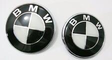 82+74mm BMW Schwarz weiss Emblem Logo Vorne Motorhaube 1er 3er 5er 7er Z3 Z4 X3a