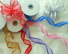 Luxury Satin Edge Organza Ribbon 10mm,25mm,38mm wide x 1. 3 or 5 metres