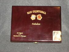 San Cristobal Fabuloso Empty Wooden Cigar Box with metal hinge & clasp