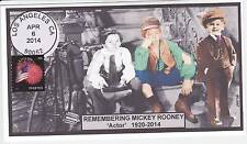 JVC CACHETS - REMEMBERING MICKEY ROONEY MOURNING/EVENT COVER FDC MOVIES #2