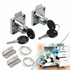 2 Cam Locks + 4 Keys for Door Cabinet Mailbox Furniture Drawer Cupboard Locker