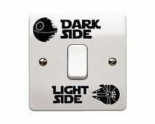 4 x Star Wars - Light Side/Dark Side Light Switch Vinyl Decal Sticker (Style 3)