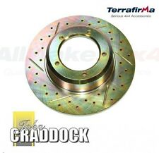 Range Rover Classic discovery Terrafirma Front Brake Discs  Drilled & Grooved