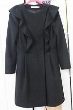 Jesiré black wool and angora coat, size 8