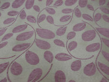"""Silver & Lilac """"Orchard Leaf"""" Leaf, Floral Jacquard Upholstery Chenille Fabric."""