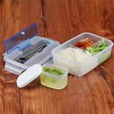 Portable Lunch Box w/Soup Bowl Chopsticks Spoon Food Container Microwave Safe